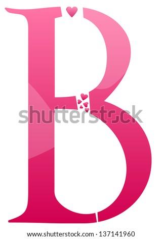 Letter B Love Alphabet Set  B Alphabet In Love