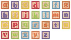 Letter Blocks (lowercase)