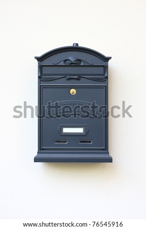 letter-box on a white wall