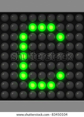 Letter C from green creeping line alphabet - stock photo