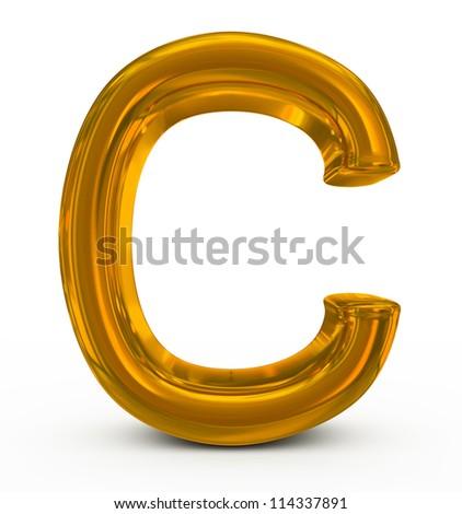 letter C golden