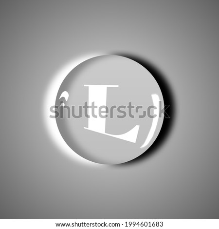 Letter Capital L Logo Water Drope Design 3d Letter Logo Water Drope Photo stock ©