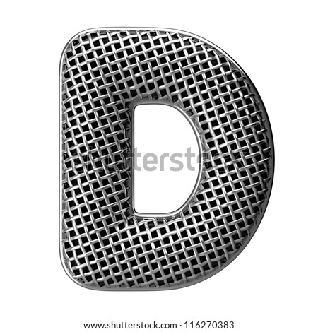Letter D from round microphone style alphabet. There is a clipping path