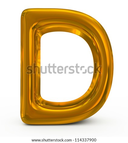 letter D golden