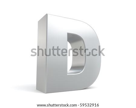 letter D in metal Zdjęcia stock ©
