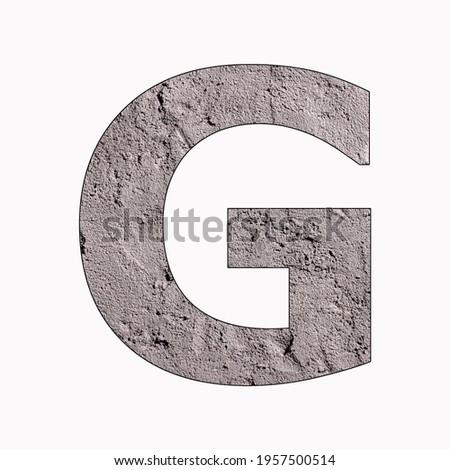 Letter G - Alphabet in gray stucco texture Stock fotó ©
