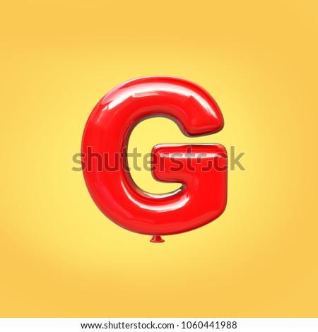 Letter G balloon font #1060441988