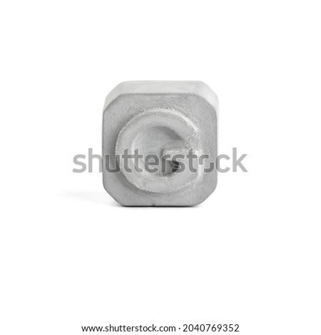 Letter G. Gray concrete alphabet isolated on white background. Stock fotó ©