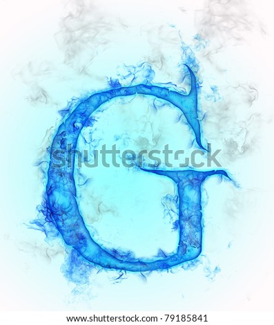 Letter G in water ink design  G Letter In Water