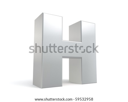 letter H in metal