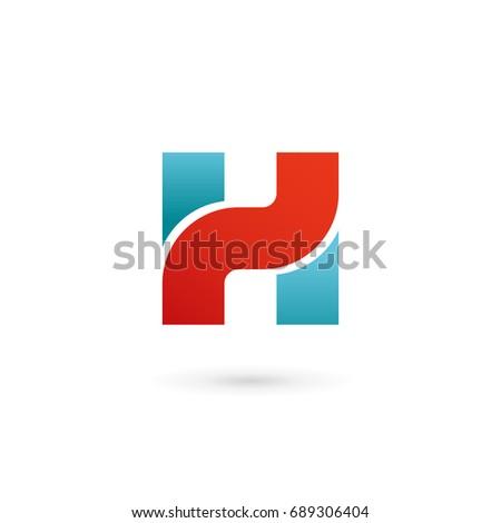 Letter H logo icon design template elements