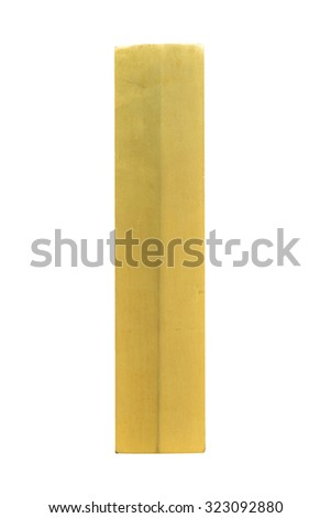 Letter I from Gold solid alphabet. There is a clipping path #323092880