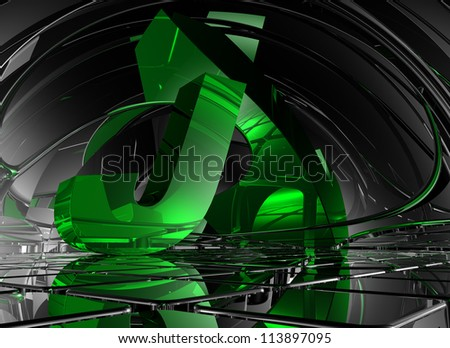 letter j in abstract futuristic space - 3d illustration