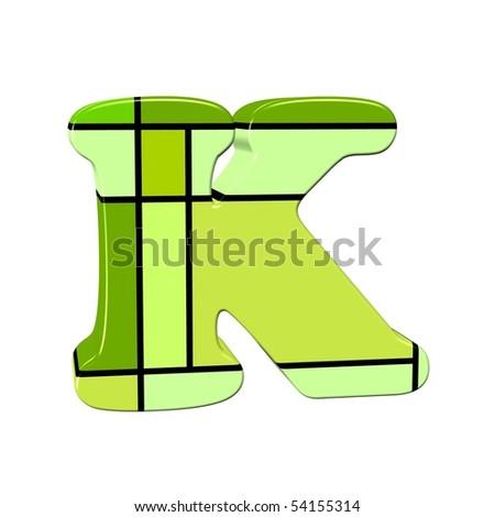 K Letter In Style Letter K In Mondrian Style Stock Photo 54155314 : Shutterstock