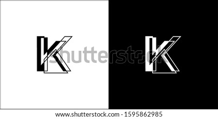 Letter K logo minimalist, Company logo, Brand icon Stok fotoğraf ©