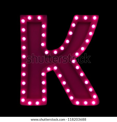 K Name Letter Wallpaper Letter K With Neon Lights Isolated On Black Background Stock Photo ...
