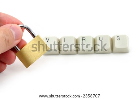 letter keys close up, concept of computer virus