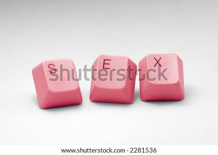 letter keys close up, concept of online porn