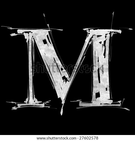 letter m images. stock photo : letter M.