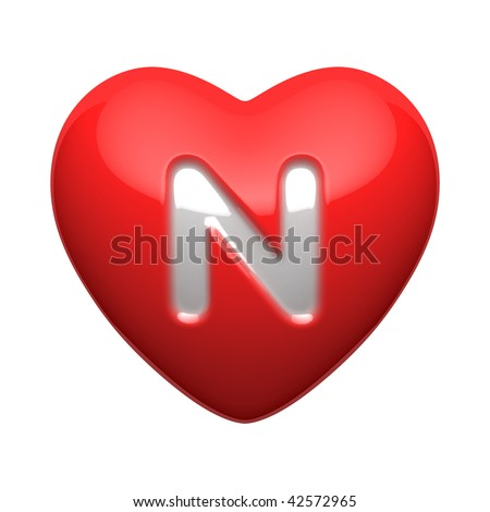 N Alphabet In Heart Letter N In Heart Letter n from alphabet of