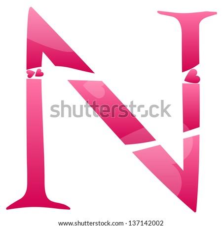 n alphabet in love  Alphabet N Love Letter n