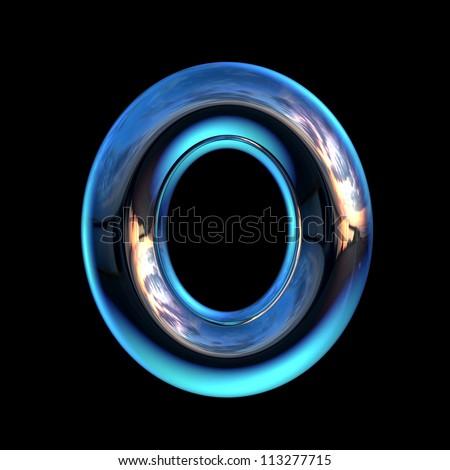 O Alphabet Logo Letter O from chrome blue
