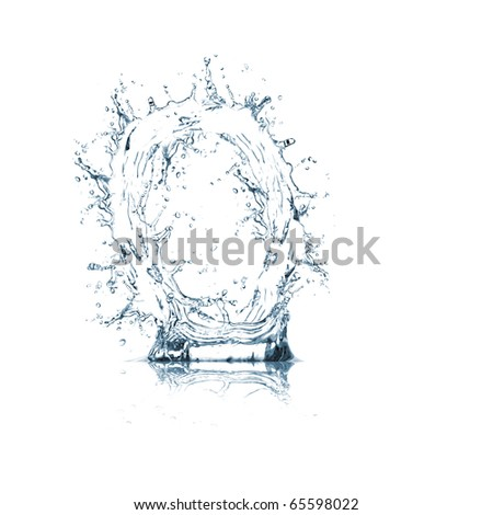 Letter of water alphabet - stock photo