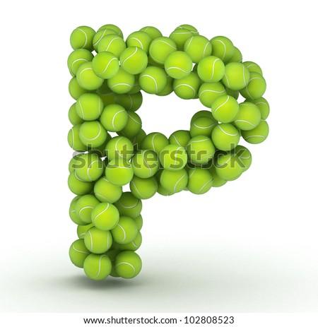 P Alphabet Letter Letter P  alphabet of tennis