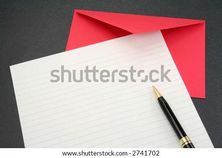 letter paper and envelope, communication concept