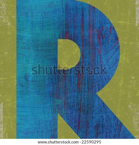 letter R alphabet symbol design - stock photo