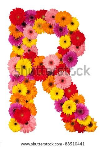Letter R - Flower Alphabet  R Letter In Flower