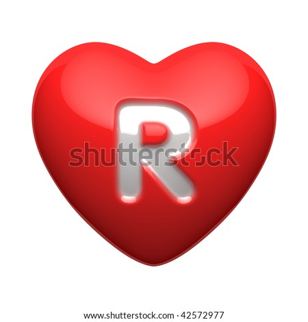 R Alphabet In Heart Letter R From Alphabet Of Hearts. There Is A Clipping Path Stock Photo ...