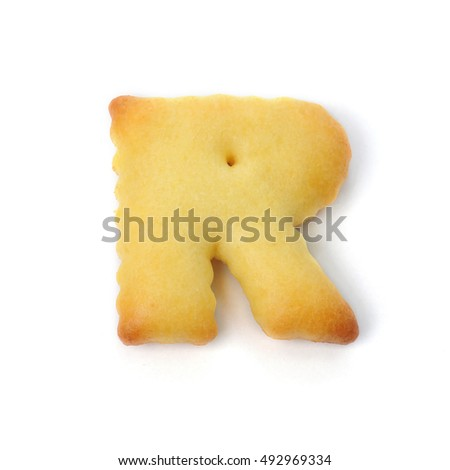 free photos letter r made of food isolated on white background
