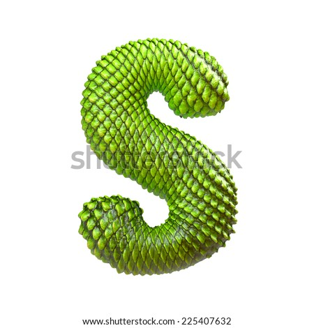 S Snake Font Snake skin font  reptile scale