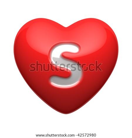 S Alphabet Letter In Heart Alphabet In Heart Letter s from alphabet of.