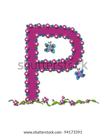 s alphabet in rose  pink s letter