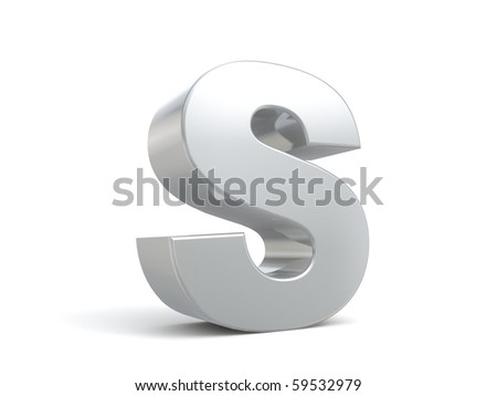 letter S in metal