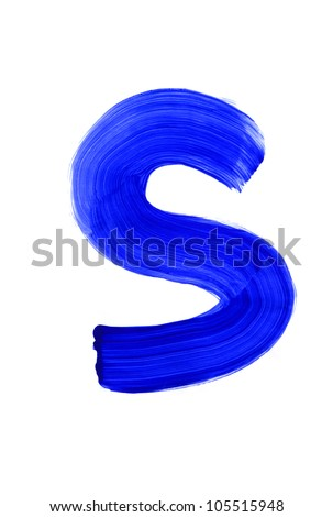 Letter s on white background