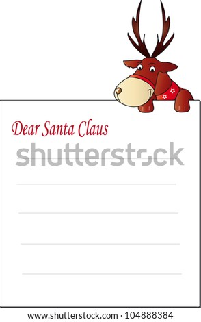 letter santa claus - stock photo