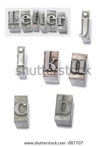 letter - set type