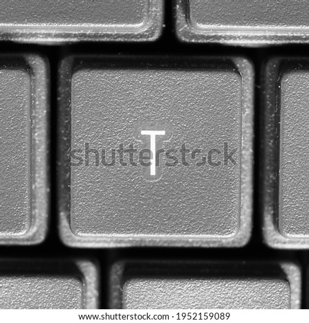 Letter T key on computer keyboard keypad Photo stock ©