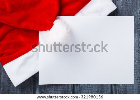 letter to Santa Claus or Christmas wishes.New year present.selective focus