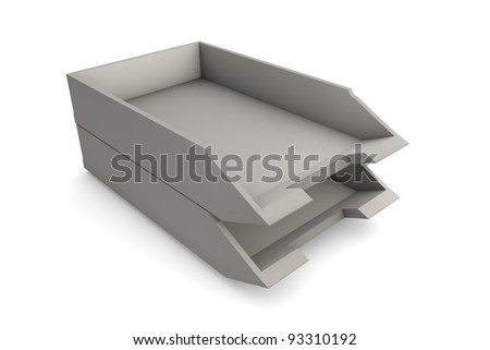 Letter tray - stock photo