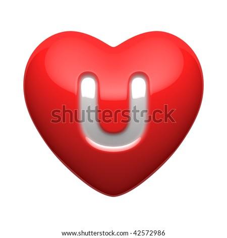 U Alphabet In Heart Letter U from alphabet of