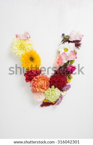 Free photos alphabet made of flower letter v avopix letter v is made up of flowers 316042301 altavistaventures Images