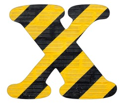 Letter X - Yellow and black lines