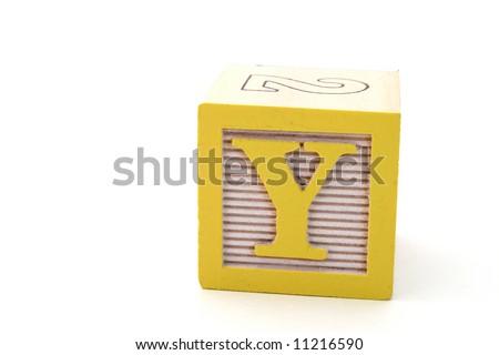 letter blocks alphabet. stock photo : letter y in an
