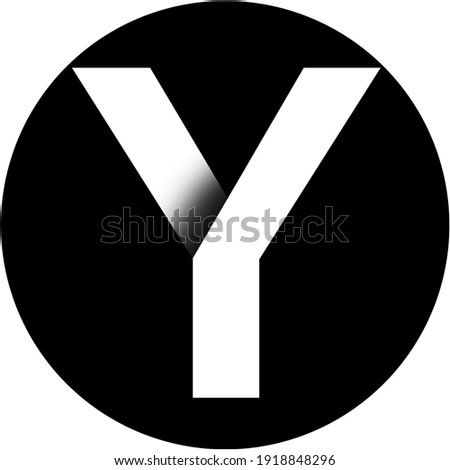 letter Y- typography letter y in white color in black background circle wallpaper Foto stock ©