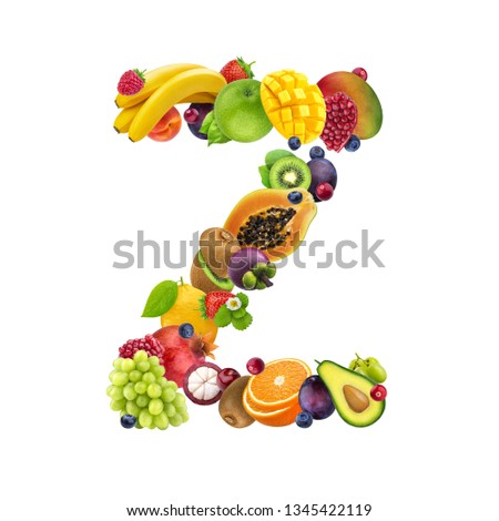 Alphabet from fruit, the letter A ? Images and Stock Photos - Page