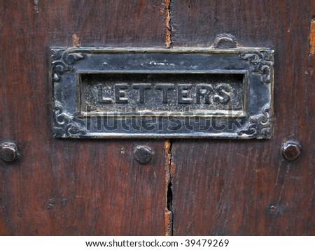 Letterbox in ancient door #39479269